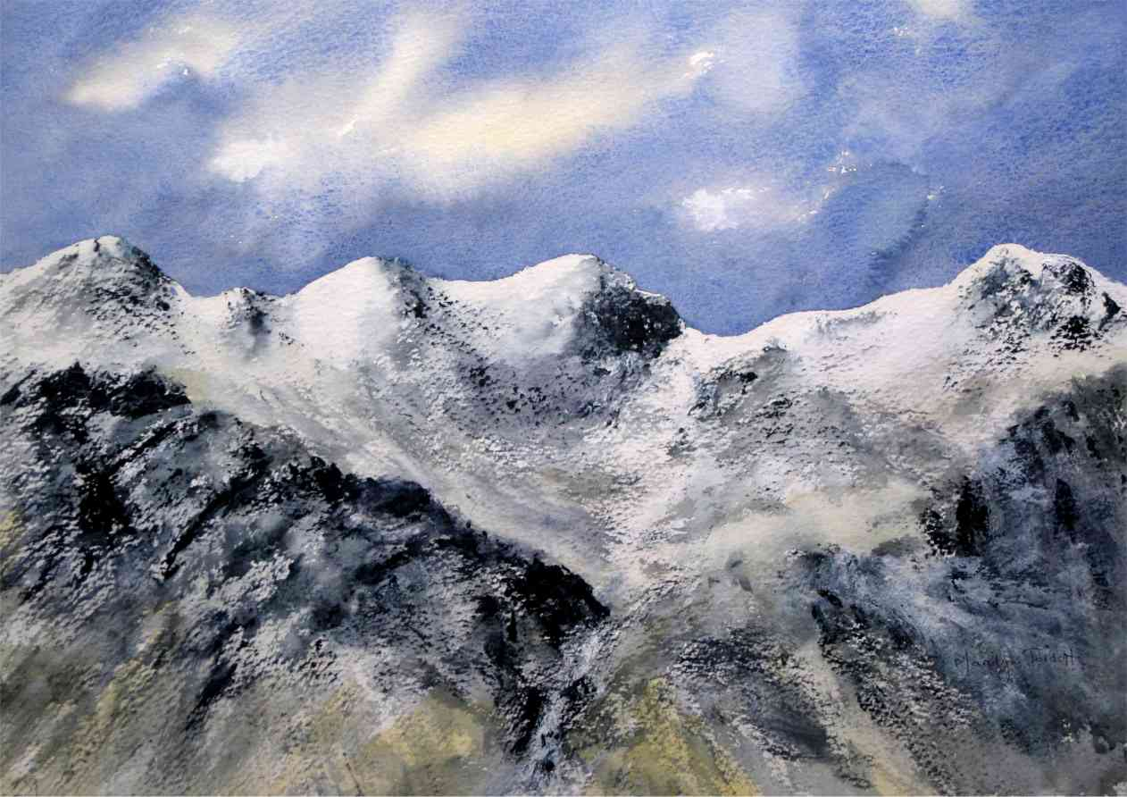 The Scafells in snow  2010